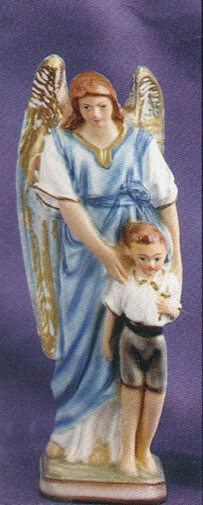 Guardian angel boy 8 inch statue