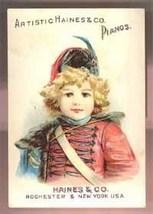 Haines Pianos Victorian trade card Grinnel Bros Adrian MI Victorian vint... - $4.50