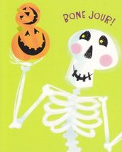 "Halloween Card ""Bone Jour!"" - $1.50"