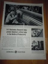 Vintage General Electric Research Print Magazine Advertisement 1952 - $4.99