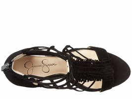 Women Jessica Simpson Beccy Wedge Sandals, Sizes 5.5-10 Black JS-BECCY Lux Suede - $89.95