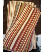 Great Selection of Striped Fabrics- 7 lg pcs Va... - $12.99