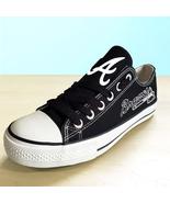 Atlanta braves shoes womens braves sneakers baseball fans fashion canvas... - $59.99+
