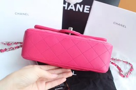 AUTHENTIC CHANEL PINK QUILTED LAMBSKIN LARGE RECTANGULAR MINI CLASSIC FLAP BAG  image 5
