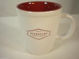 Starbucks Est. 1971 Coffee Mug 2006 Red Letters & Interior 13 oz. - $18.41