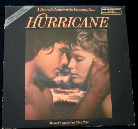 Hurricane 1979 Original Soundtrack Promo LP Nino Rota