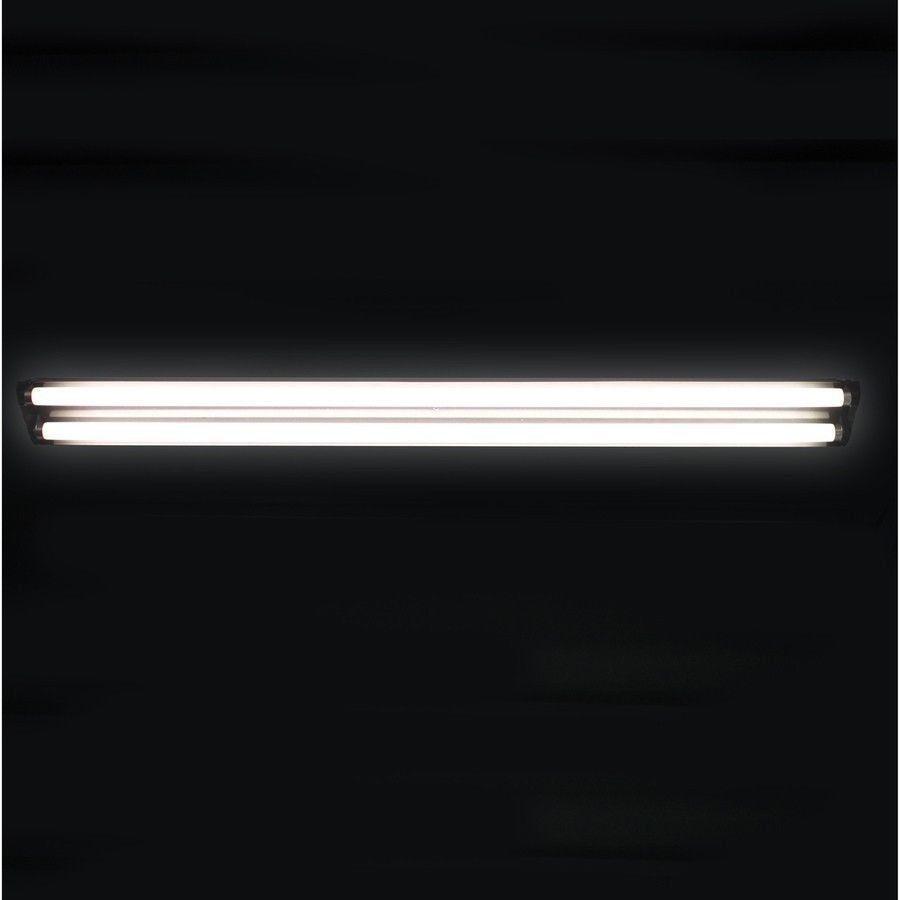 48 in fluorescent shop light 4 ft t8 plug in black fixture. Black Bedroom Furniture Sets. Home Design Ideas