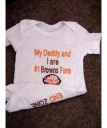 Cleveland Browns Football NFL  Baby Infant Newborn Bodysuit Creeper Onesie - $24.99