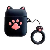 PANDA SUPERSTORE Black Cartoon Cat Claw Silicone Protective Case for Wireless He