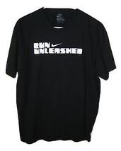 NIKE Unleashed Black Short Sleeve T SHIRT MENS Cotton size XL Slim Fit - $9.89
