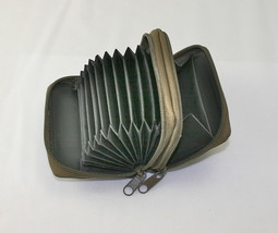 NEW Credit Card Wallet Coin Purse Change Holder ID Brown Leather zip aro... - $8.97
