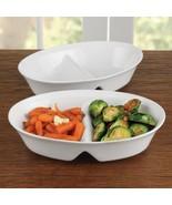 BIA White Porcelain 10.5 Inch Divided Serving Platter - $33.20
