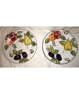 """Oneida Vintage Fruit Hand Painted Dessert Plates 8"""" EUC Multi-colored se... - $15.99"""