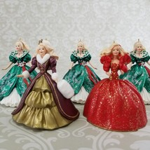 LOT OF 5 HOLIDAY BARBIE CHRISTMAS HALLMARK ORNAMENTS 1993 1995 1996 - $21.99