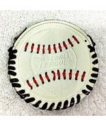 "Old Leather Baseball League Coin Purse 2 3/4"" Baseball Shape & Design T18 - $14.36"