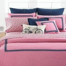 Tommy Hilfiger Oxford Red Standard Sham Main Color Pink NEW - $19.99