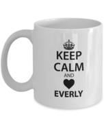 Personalized cups with names For Men, Women - Keep Calm And Love EVERLY ... - $14.95