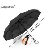 GoldenBrella® 10Rib Wind Quality Resistant 3 Fold Umbrella Rain Women - $20.36