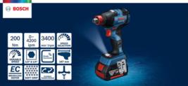 Bosch GDX 18V 200C 2-in-1 EC Brushless 147mm 200Nm 3400rpm GCY30-4 / Bare Tool image 2