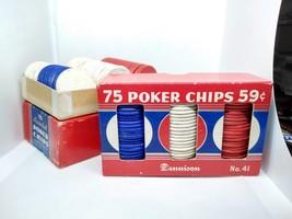 SET OF 143 DENNISON No 41 POKER CHIPS - $19.75