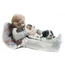 """Lladro #1535 """"Sweet Dreams"""" Young Boy Sleeping ... - $154.44"""