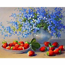 Flower Fruit 40x50cm DIY Paint By Number Kit Acrylic Painting Linen Canv... - $9.59+