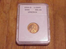 1944 - D  Denver  Mint Lincoln Wheat Ear Cent..Slabbed.High Grade - $6.76
