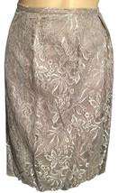 Ann Taylor Loft Gray metallic Lace knee length skirt 4 - $29.95