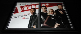 The Voice 2014 NBC Framed 12x18 ORIGINAL Advertising Display Gwen Stefan... - $45.45