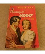 Vintage Paperback Disposing of Henry by Roger Bax Pocket Book # 606 1949 VG - $14.99