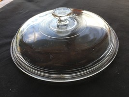 """Clear glass domed lid crock casserole 8 1/4"""" diam. round handle 407 Cat ... - $4.47"""