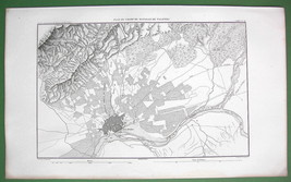 1859 ANTIQUE MAP - Spain Environs of Talavera - $20.24