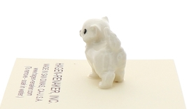 Hagen-Renaker Miniature Ceramic Cat Figurine Tiny White Persian Kitten image 4