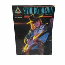 Sheet Music Book Guitar Stevie Ray Vaughan Lightnin Blues 1983-1987 - $25.15