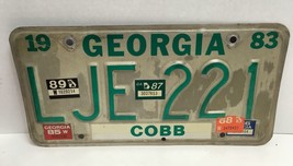 Vintage Old 1983 Georgia License Plate LJE221 Car Tag Cobb County w/ Oth... - $20.79