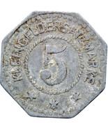 1917 5 Pfennig Germany Notgeld Germersheim Coin (MO833-) - $16.00