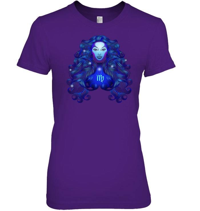 Virgo Neon Sign T Shirt image 3