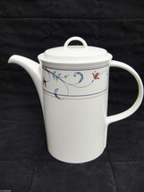 Mikasa Intaglio Annette Porcelain Coffee Pot Server and Lid - $32.66