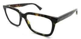 Gucci Eyeglasses Frames GG0160O 002 53-17-145 Dark Havana Made in Italy - $245.00