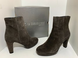 La Canadienne Monacco Women's Ankle Boots Platform Heels Moka Brow Suede... - £134.90 GBP