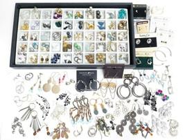 Huge Mixed 115 Pcs EARRINGS Jewelry Lot*Karen & Co*Joan Rivers*Rhineston... - $272.25