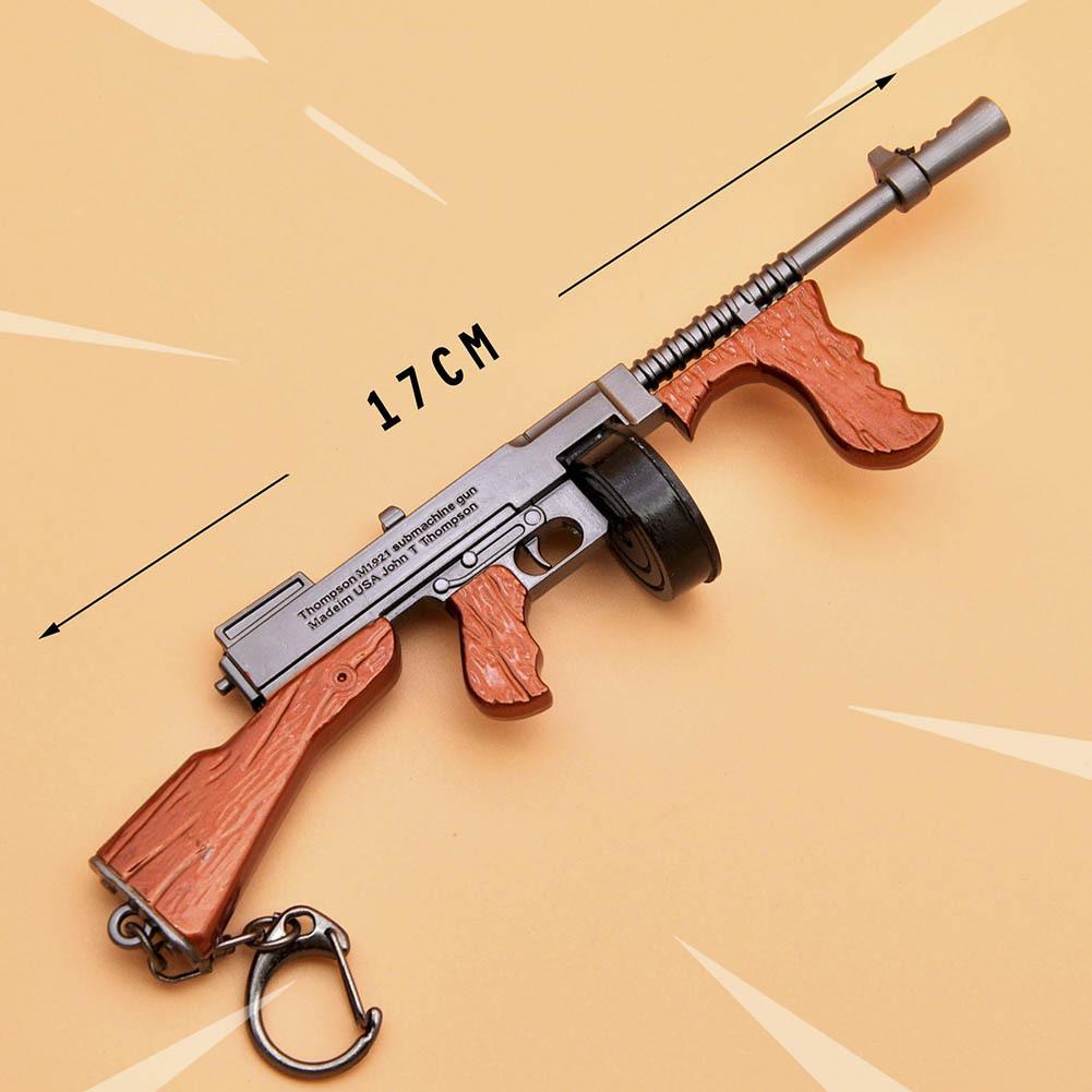 Fortnight Battle Royale Gun Keychain Toy Metal Action Figure Model Toy Thomson