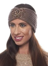 Crystal Jeweled Knit Headband / Turban / Ear Warmer - In 5 Gorgeous Colors! image 5