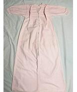 "Vintage Flannel Baby Sleep Sack Pink Gingham Check 36"" Long Trundle Bundle - $38.60"