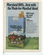 Maryland 100's Menthol Filter Cigarettes First With The Made-For-Menthol... - $1.50