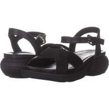 naturalizer Finlee Sport Sandals 221, Black Leather, 4.5 US / 35 EU - $24.95