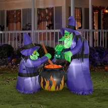 Halloween Witch Cauldron Party Decoration Holiday Spooky Decor Inflatabl... - €124,43 EUR