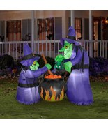 Halloween Witch Cauldron Party Decoration Holiday Spooky Decor Inflatabl... - $138.88