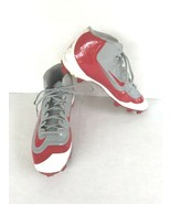 Nike Air Huarache 2KFilth Keystone Mid Cleat Size 11.5 Gray Red White 80... - $19.60