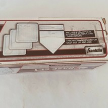 Franklin Throw-down Rubber-Tek Base Set White with Homeplate Pitchers Ru... - $32.64
